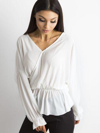 SCANDEZZA Biała bluzka z dekoltem z tyłu