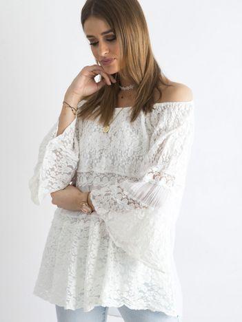 SCANDEZZA Biała luźna bluzka hiszpanka
