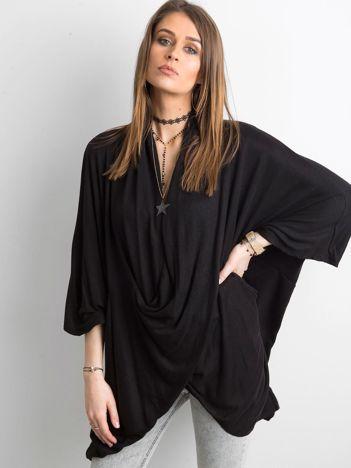 SCANDEZZA Czarna bluzka oversize