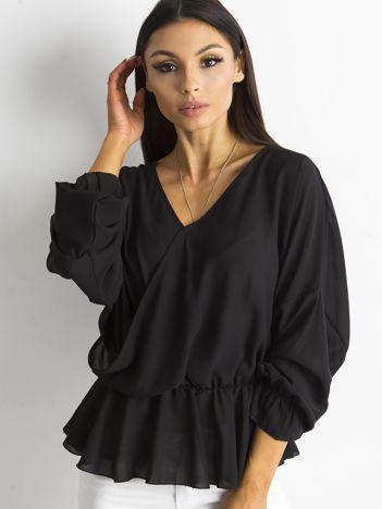 SCANDEZZA Czarna bluzka z dekoltem z tyłu