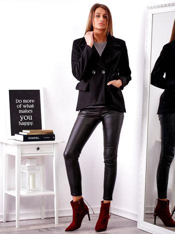 SCANDEZZA Czarny krótki płaszcz