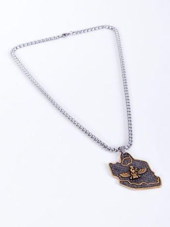 SCANDEZZA Naszyjnik srebrny ze złotą zawieszką