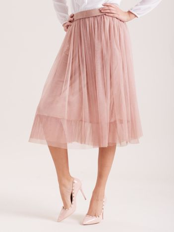SCANDEZZA Różowa tiulowa spódnica