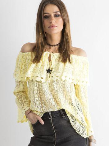 SCANDEZZA Żółta bluzka hiszpanka