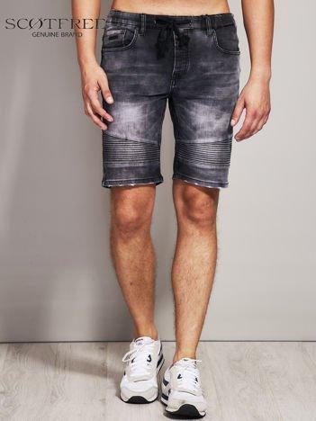 SCOTFREE Czarne jeansowe szorty męskie