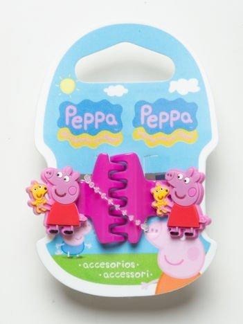 ŚWINKA PEPPA Zestaw 2 szt. różowych klamerek do włosów dla dziewczynki