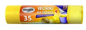 Sarantis Jan Niezbędny Grosik Worki na śmieci z taśmą 35L 15 szt.