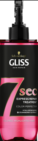 """Schwarzkopf  Gliss Hair Repair Odżywka do włosów Color Perfector - 7 sekund  200ml"""""""