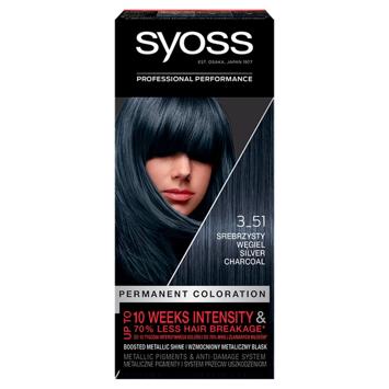 """Schwarzkopf  Syoss Farba do włosów Permanent Coloration nr 3_51 Srebrzysty Węgiel 1op."""""""