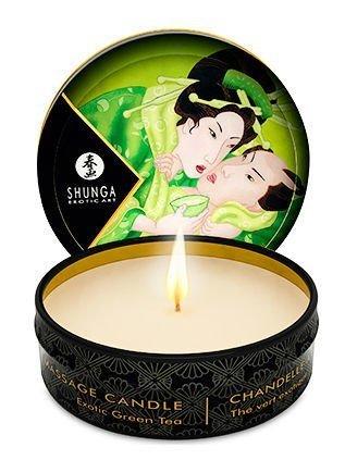 Shunga Candle 30 ml Tea / Zenitude Wysokiej jakości świeca i wosk na bazie soi do zmysłowego masażu. 100% olejki naturalne.