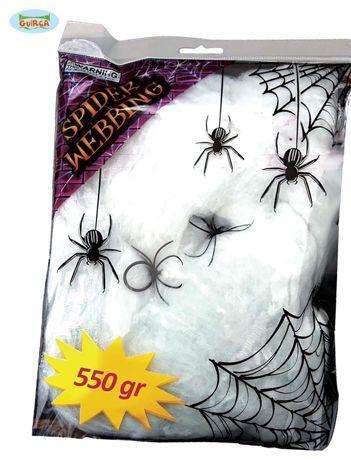 Sieć z pająkami na Halloween