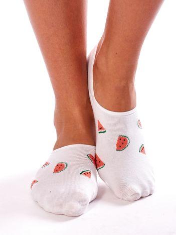 Skarpety stopki w arbuzy