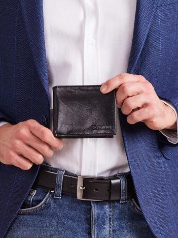 Skórzany męski portfel czarny
