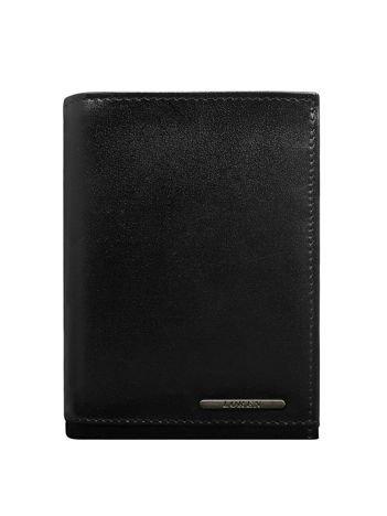 Skórzany portfel męski z przegródkami czarny