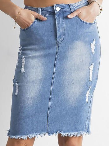 Spódnica jeansowa niebieska