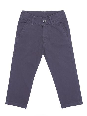 Spodnie chłopięce materiałowe ciemnoszare