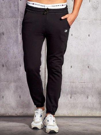 Spodnie dresowe męskie czarne