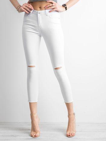 Spodnie jeansowe skinny białe
