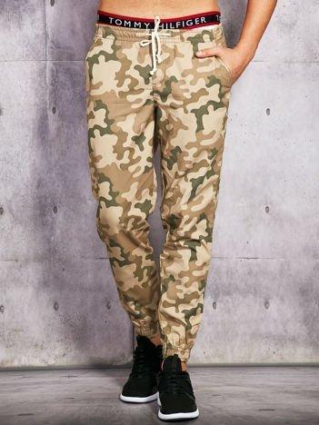Spodnie męskie moro beżowe