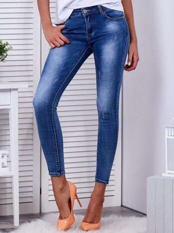 Spodnie niebieskie jeansowe z kokardkami