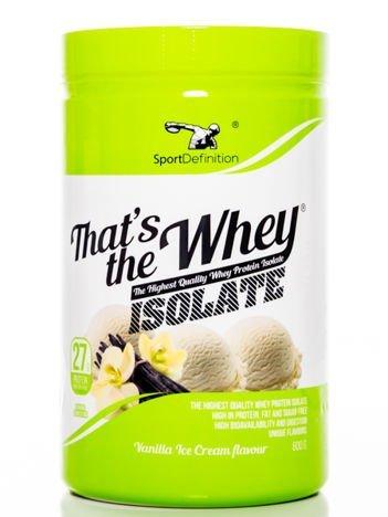 Sport Definition - Odżywka białkowa Thats the Whey Isolate Vanilla Ice Cream flavour 600g