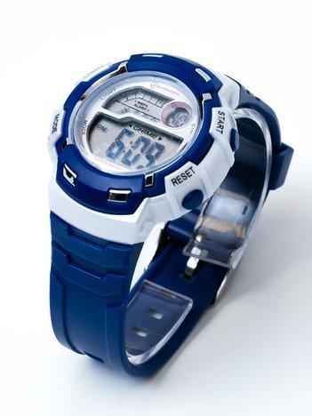 Sportowy Granatowy Zegarek  WR 30M