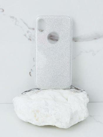 Srebrne brokatowe etui do iPhone X