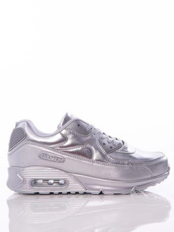 Srebrne buty sportowe z poduszką powietrzną