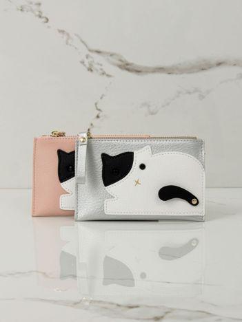 Srebrny mały portfel z aplikacją