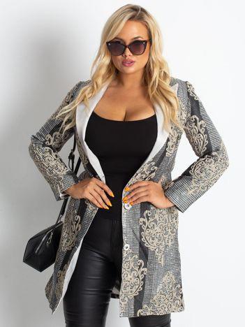 Srebrny płaszcz Shine PLUS SIZE