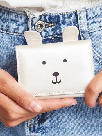 Srebrny portfel z nadrukiem
