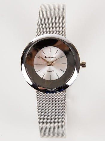 Srebrny zegarek damski na bransolecie MESH