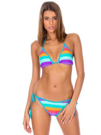 Strój kąpielowy bikini w kolorowe paski