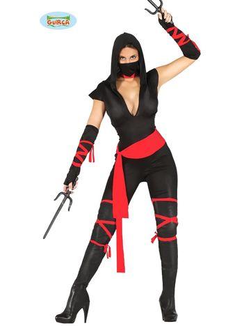 Strój karnawałowy Kobieta Ninja