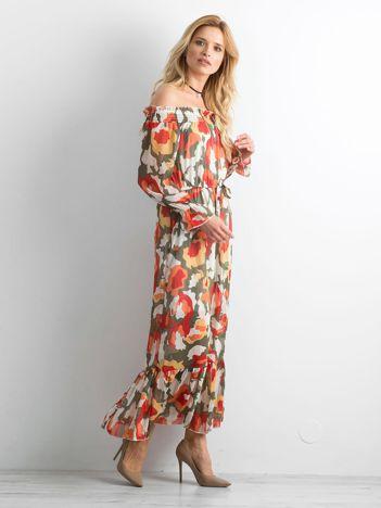 Sukienka hiszpanka we wzory