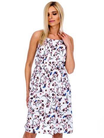 Sukienka letnia w drobne kwiatki biała