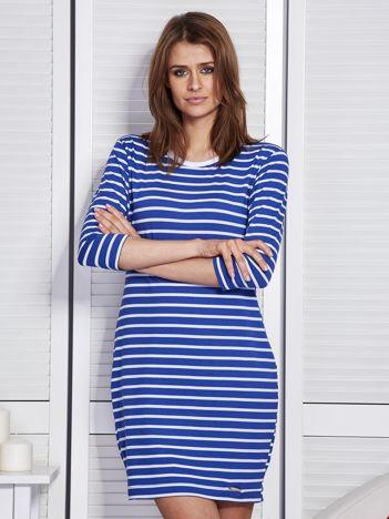 Sukienka niebieska w paski