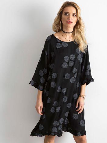 Sukienka we wzory czarna