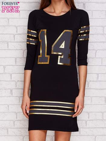 Sukienka z liczbą 14 czarna