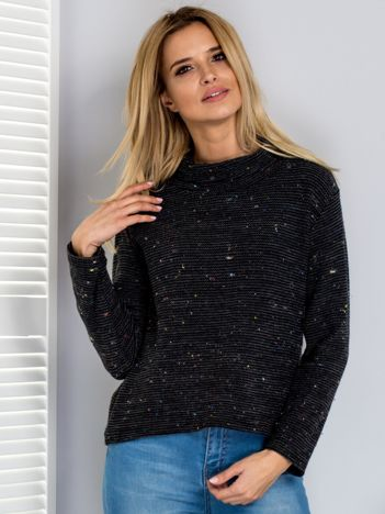 Sweter ciemnoszary z miękkim golfem