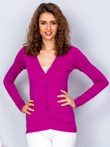 Sweter fioletowy na guziki