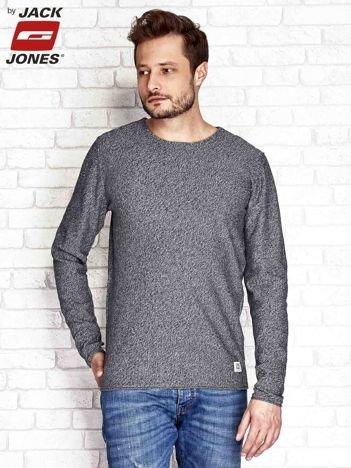 Sweter męski melanżowy szary