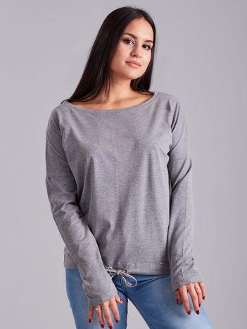 Szara bawełniana bluzka