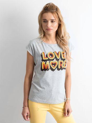 Szara bawełniana koszulka