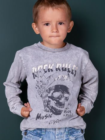 Szara bluzka dla chłopca z nadrukiem