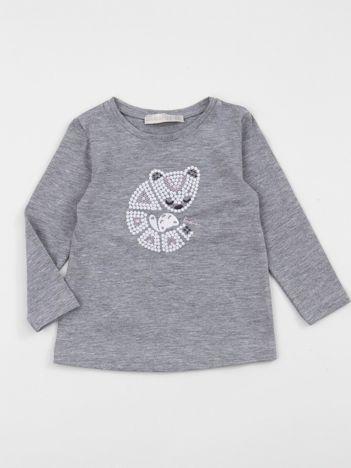 Szara bluzka dziecięca z haftem