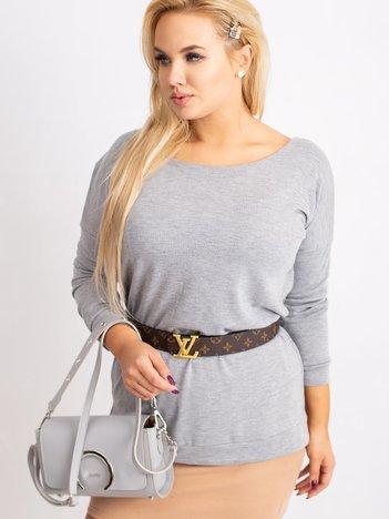 Szara bluzka plus size Alexa