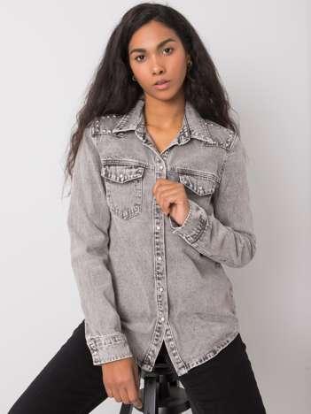 Szara koszula jeansowa Anneka