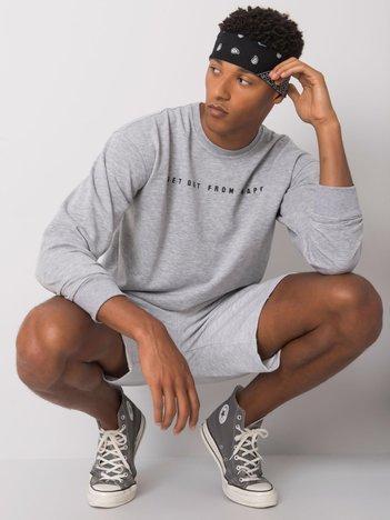 Szara melanżowa bluza męska z napisem Griffin LIWALI