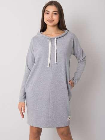 Szara melanżowa sukienka Meriden